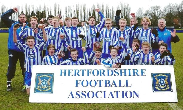 Under 15 2013 Hertfordshire County Champions