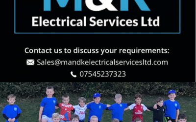 M&K Electrical Services Ltd are the day sponsor for the U6s Festival at the Nationwide Supplies Cougars 5aside Tournament